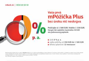 mBank spúšťa pôžičku s nulovým úrokom